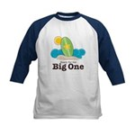 The Big One Surf Kids Navy Blue Baseball Jersey
