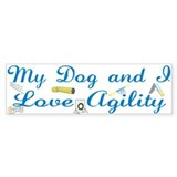 I Love Agility 2 Bumper Sticker