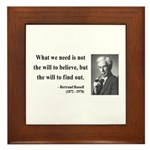 Bertrand Russell 4 Framed Tile