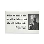 Bertrand Russell 4 Rectangle Magnet (10 pack)