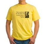 Bertrand Russell 4 Yellow T-Shirt