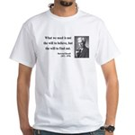 Bertrand Russell 4 White T-Shirt