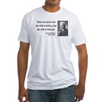 Bertrand Russell 4 Fitted T-Shirt