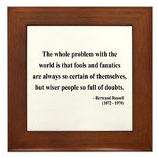 Bertrand Russell 2 Framed Tile