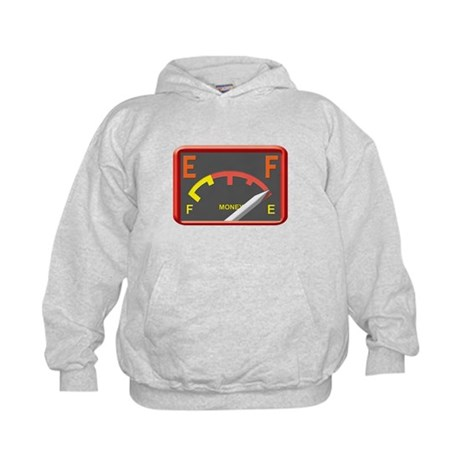 Got gas? Then you're broke. Kids Hoodie