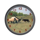 Dog Meets Sheep Wall Clock