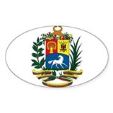 Venezuela Coat of Arms Oval Decal