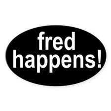 Fred Happens Oval Decal
