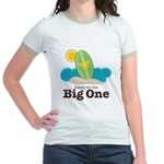 The Big One Surf Girl Green Jr. Ringer T-Shirt