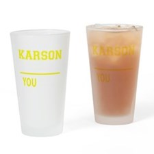 Funny Karson Drinking Glass