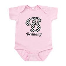 Chevron Monogram B Infant Bodysuit