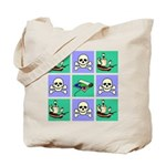 Treasure Map Blocks Tote Bag