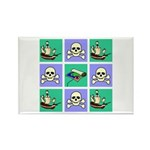 Treasure Map Blocks Rectangle Magnet (10 pack)