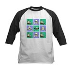 Treasure Map Blocks Kids Baseball Jersey