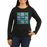 Treasure Map Blocks Women's Long Sleeve Dark T-Shi