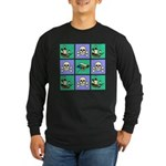 Treasure Map Blocks Long Sleeve Dark T-Shirt