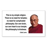 Dalai Lama 1 Rectangle Decal