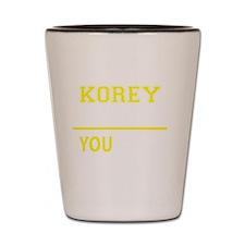 Funny Korey Shot Glass