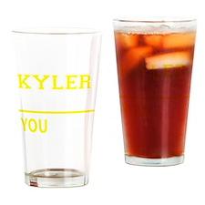 Cute Kyler Drinking Glass