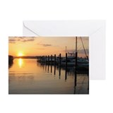 Belmar Marina Sunset Greeting Cards (Pk of 10)