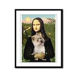 Mona / Cairn T (brin) Framed Panel Print