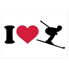 I love downhill skiing Invitations