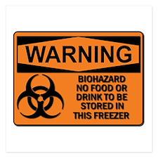Biohazard - Warning 2 5.25 X Flat Invitations
