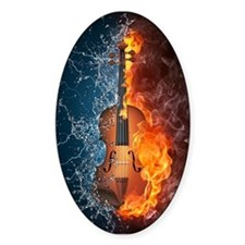 Fire and Water Violin Decal