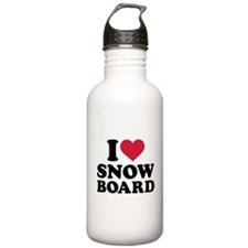 I love Snowboard Water Bottle