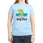 The Big One Surf Women's Light Blue T-Shirt