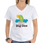 The Big One Surf Women's V-Neck T-Shirt