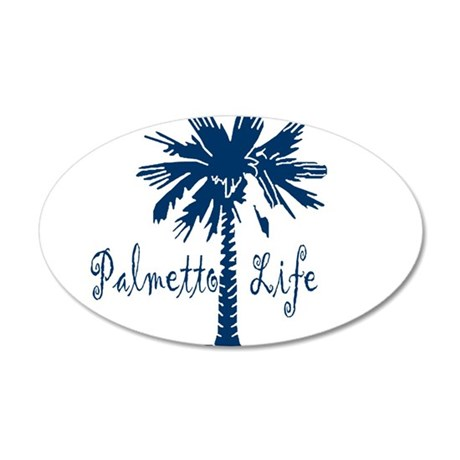 Blue Palmetto Life Wall Decal