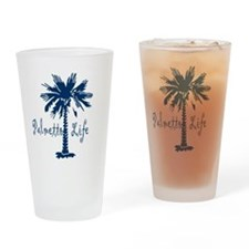 Blue Palmetto Life Drinking Glass