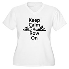 Keep Calm and Row On Plus Size T-Shirt