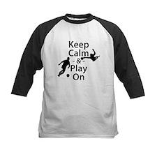 Keep Calm and Play On (Soccer) Baseball Jersey