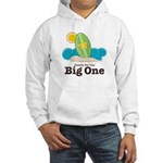 Ready For The Big One Surf Grey Hooded Sweatshirt