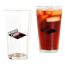 Checker Champ Drinking Glass