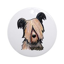 Skye Terrier Round Ornament