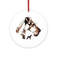 Unique Terrier Ornament (Round)