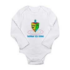 Dreidel Hanukkah Long Sleeve Infant Bodysuit