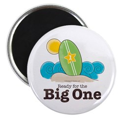 Ready For The Big One Beach Surf Magnet 10 pk