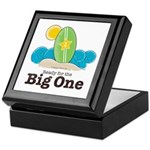 Ready For The Big One Beach Surf Keepsake Box