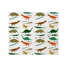 Dinosauria Throw Blanket