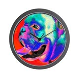 POP ART BULLDOG Wall Clock