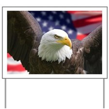 American Flag Eagle Yard Sign