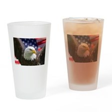 American Flag Eagle Drinking Glass
