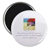 Beach Bungalow 2.25&quot; Magnet (10 pack)