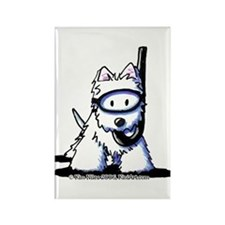 Scuba Westie Rectangle Magnet
