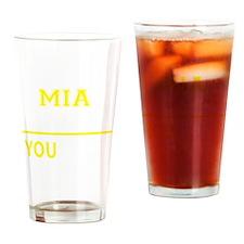 Funny Mia Drinking Glass