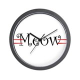 Meow Wall Clock